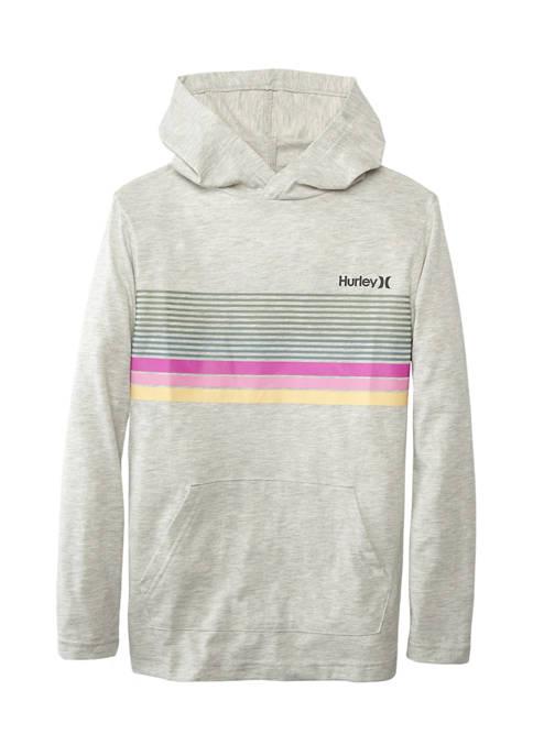 Hurley® Boys 8-20 Marled Graphic Hoodie