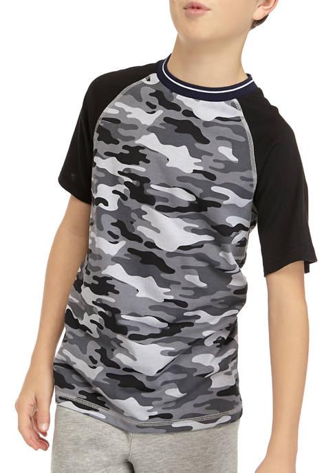 Boys 8-20 Print Raglan T-Shirt