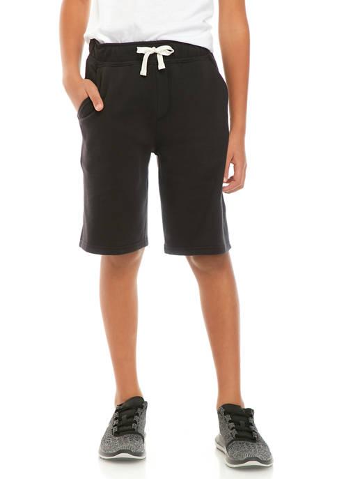 Boys 8-20 Fleece Jogger Shorts