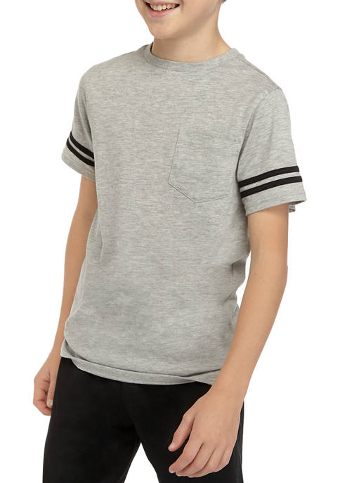 Boys 7-16 Stripe Arm T-Shirt