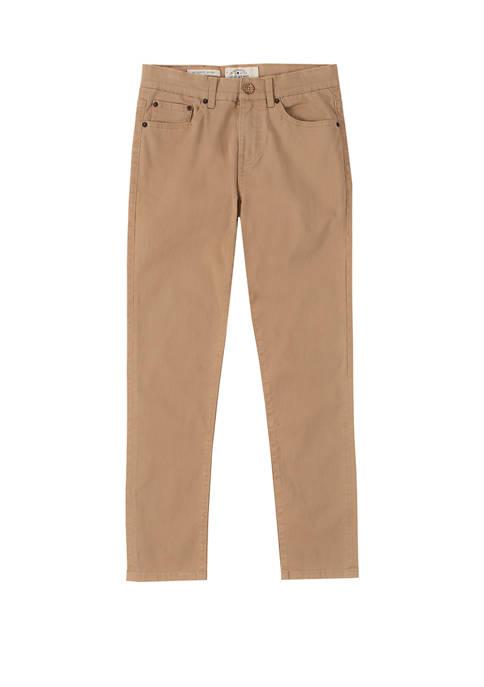 Lucky Brand Boys 8-20 5 Pocket Twill Pants