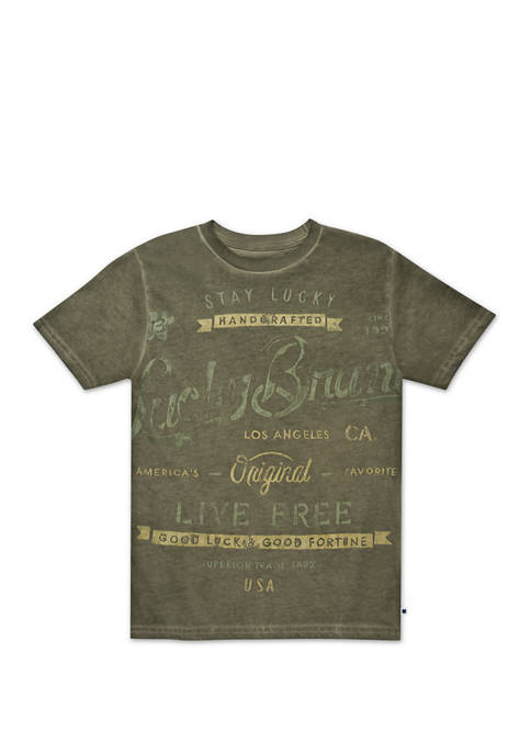 Boys 8-20 Scripted Graphic T-Shirt