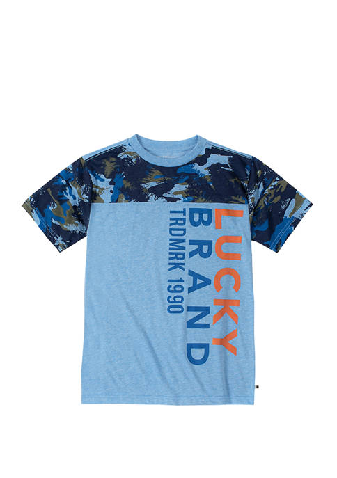 Boys 8-20 Camouflage Forest Short Sleeve Graphic T-Shirt