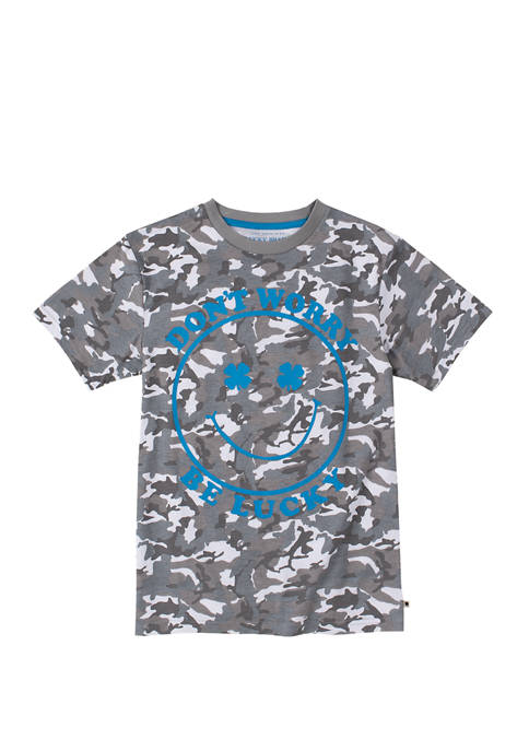 Boys 8-20 Short Sleeve Camouflage Graphic T-Shirt