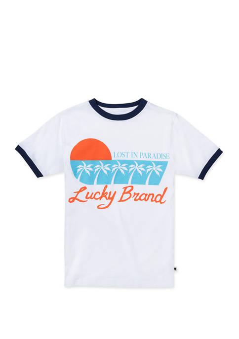 Lucky Brand Boys 8-20 Paradise Short Sleeve T-Shirt