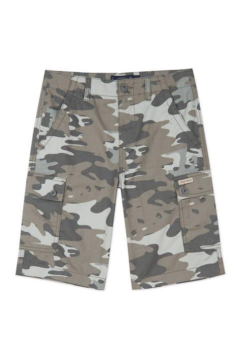 Lucky Brand Boys 8-20 Camo Cargo Shorts