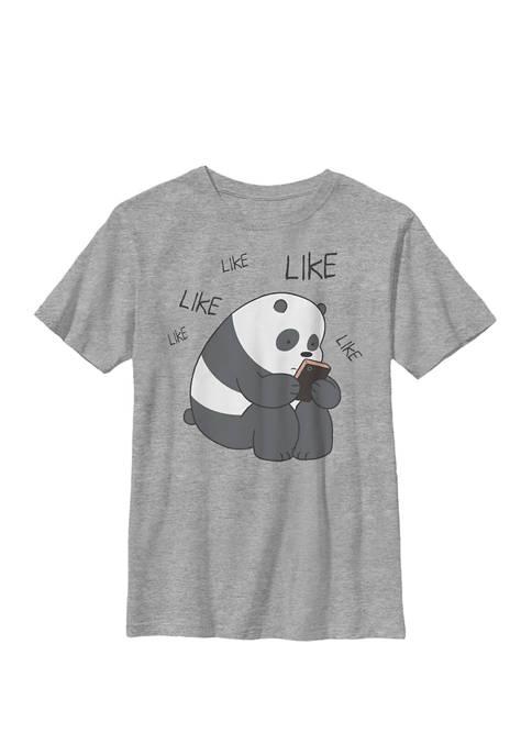 We Bare Bears Like Like Like Texting Crew Graphic T-Shirt