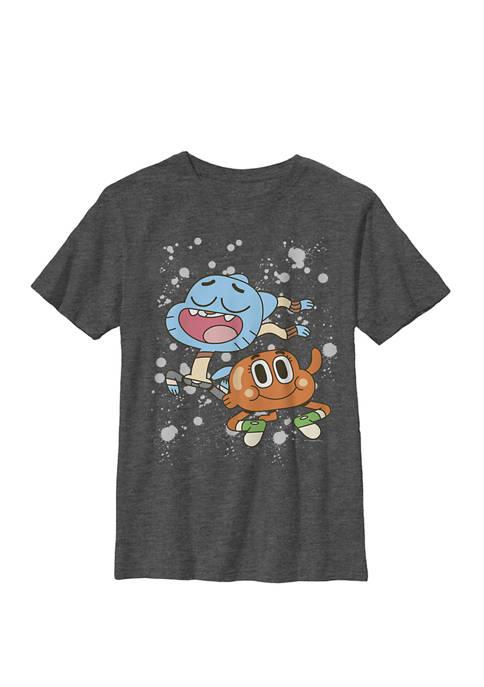 Cartoon Network Gumball And Darwin Paint Splatter Crew