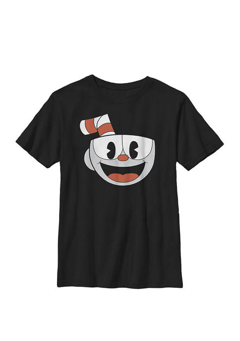 Big Smiling Face Video Game Crew Graphic T-Shirt