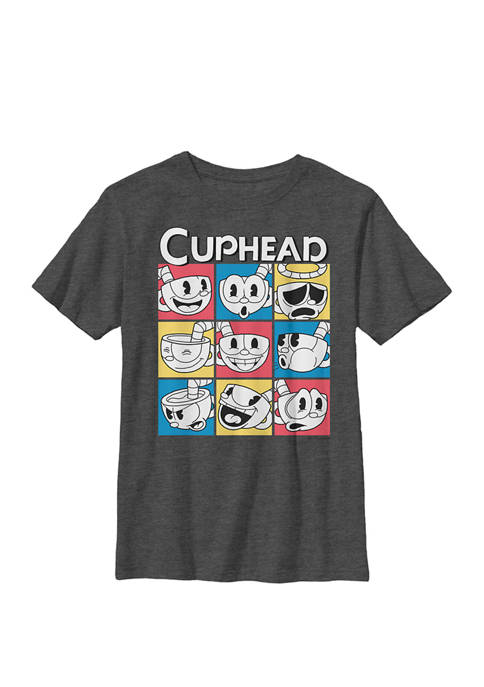 Nine Squares of Different Emotions Crew Graphic T-Shirt