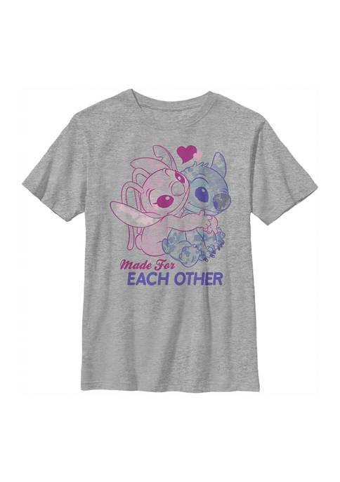 Disney® Boys 4-7 Stitch Angel Together Graphic T-Shirt