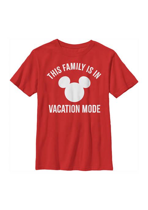 Disney® Boys 4-7 Vacation Mode Graphic T-Shirt