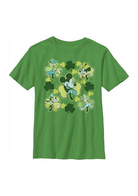 Boys 4-7  Mickey Friends Clovers Graphic T-Shirt