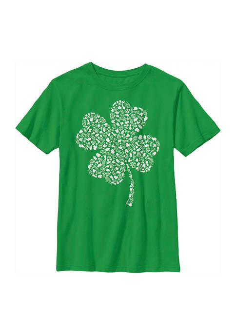 Disney® Boys 4-7 Shamrock Fill Graphic T-Shirt