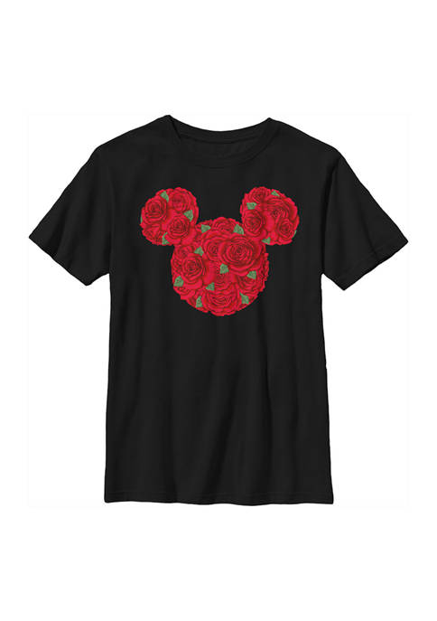 Disney® Boys 4-7 Mickey Mouse Roses Graphic T-Shirt