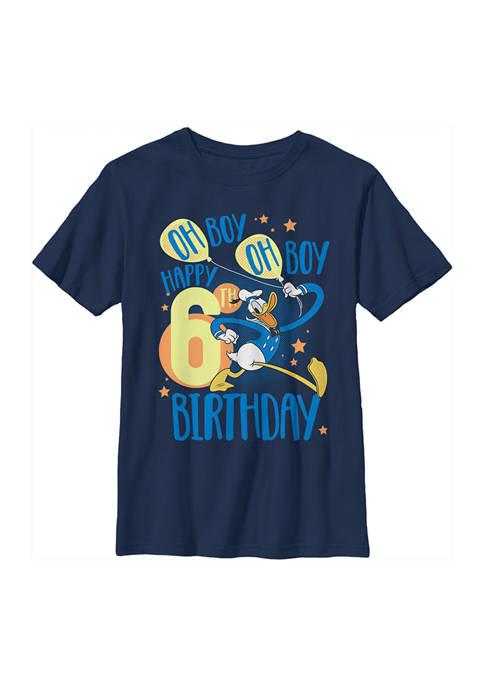 Boys 4-7 Donalds 6th Bday Graphic T-Shirt