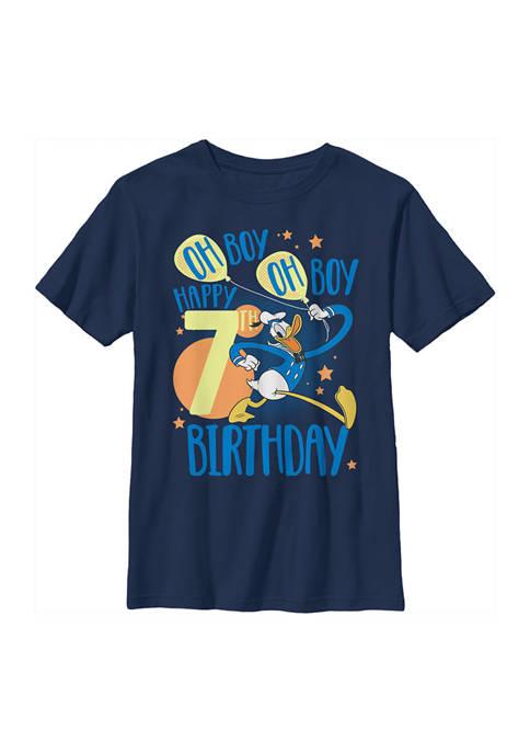 Disney® Boys 4-7 Donalds 7th Bday Graphic T-Shirt