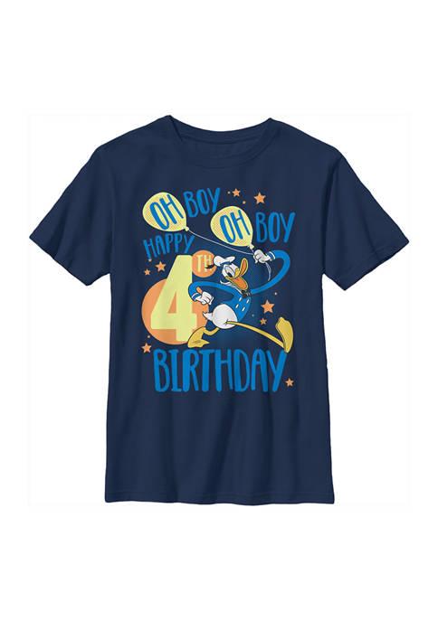 Boys 4-7 Donalds 4th Bday Graphic T-Shirt