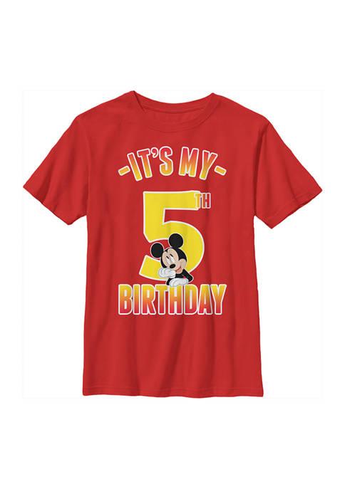 Disney® Mickey Boys 4-7 Hiya Pal 5th Birthday