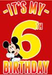 Boys 4-7 Hiya Pal 6th Birthday Graphic T-Shirt