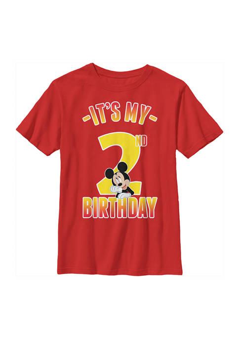 Disney® Mickey Boys 4-7 Hiya Pal 2nd Birthday