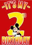 Boys 4-7 Hiya Pal 2nd Birthday Graphic T-Shirt