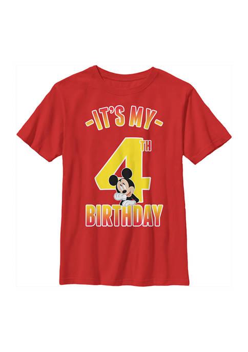 Disney® Mickey Boys 4-7 Hiya Pal 4th Birthday