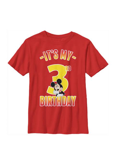 Disney® Mickey Boys 4-7 Hiya Pal 3rd Birthday