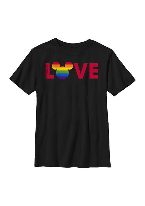 Disney® Boys 4-7 Ears Logo Pride Graphic T-Shirt