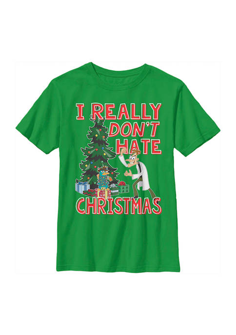Phineas and Ferb Boys 4-7 Doof Christmas Graphic