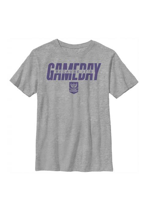 ESPN Boys 4-7 Purple Gameday Graphic T-Shirt