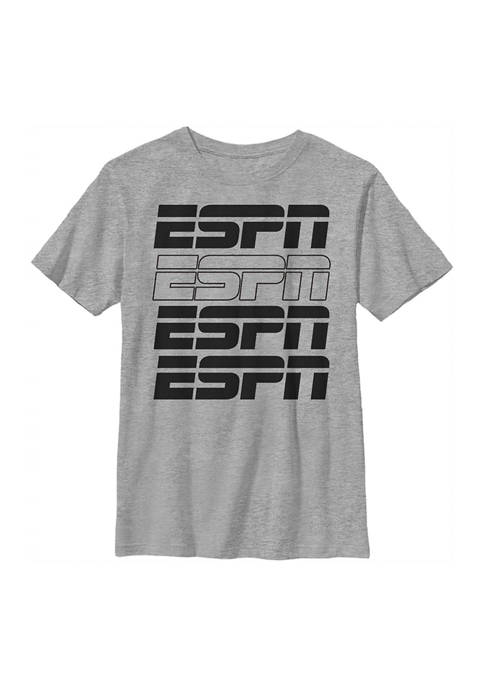 ESPN Boys 4-7 Filled Stack Graphic T-Shirt