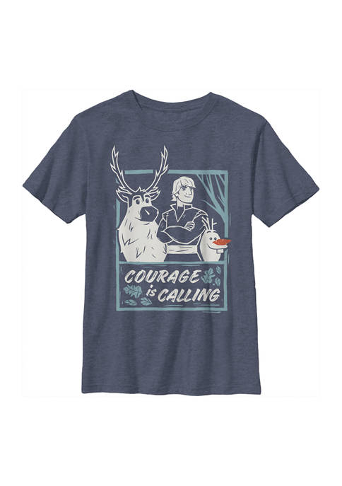 Boys 4-7 Frozen Courage Calls Graphic T-Shirt