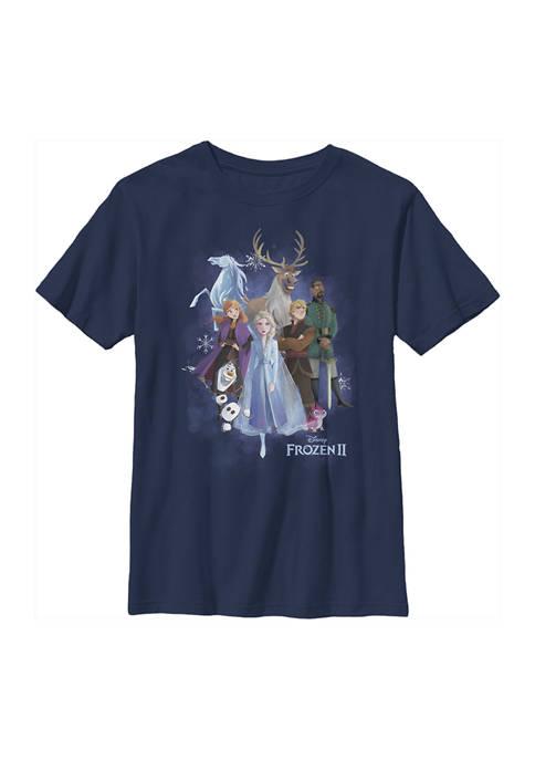 Boys 4-7 Frozen Group Cloud Graphic T-Shirt
