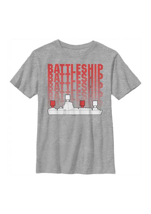 Battleship Boys 4-7 Repeating Graphic T-Shirt
