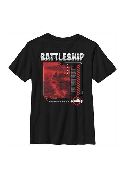 Battleship Boys 4-7 Digital Glitch Graphic T-Shirt