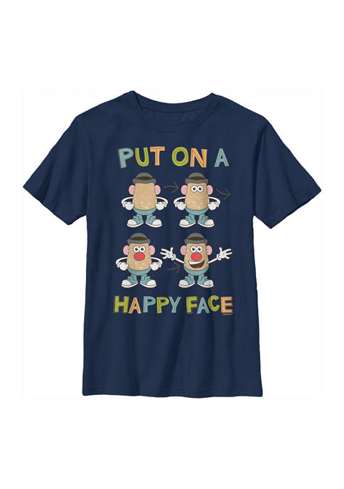 Boys 8-20  Happy Face How To Graphic T-Shirt