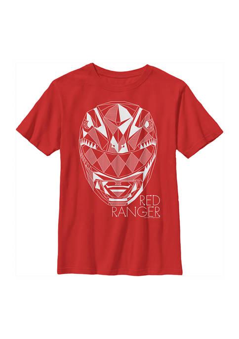 Power Rangers Boys 4-7 Red Ranger Lines Graphic