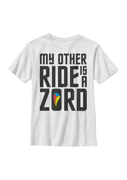 Power Rangers Boys 4-7 Ride Zords Graphic T-Shirt