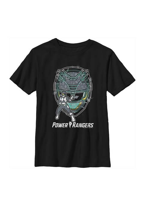 Power Rangers Boys 4-7 Black Ranger Hero Graphic