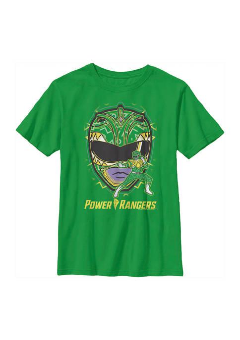 Power Rangers Boys 4-7 Green Ranger Hero Graphic