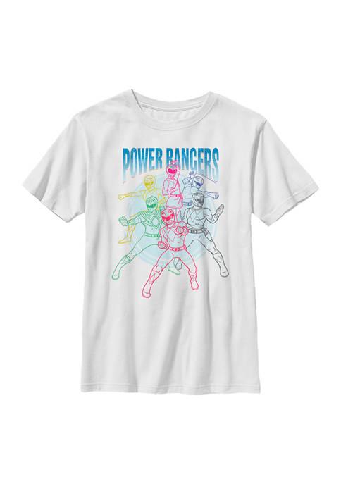 Boys 4-7  Power Ranger Line Art Graphic T-Shirt