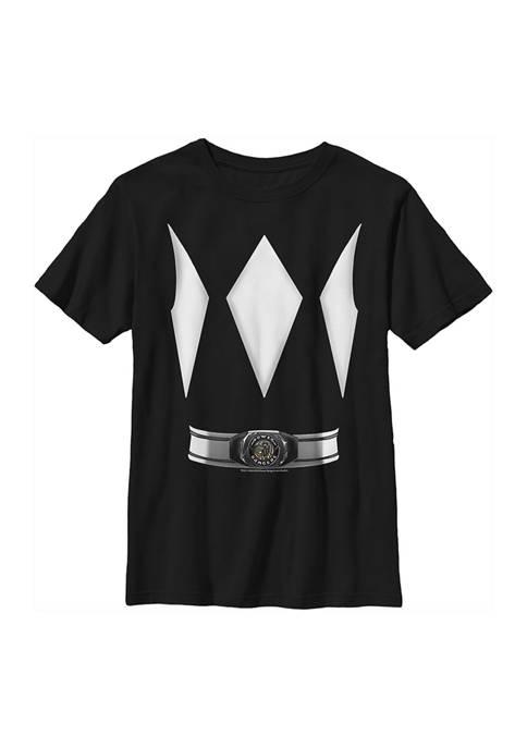 Power Rangers Boys 4-7 Black Ranger Costume Tee