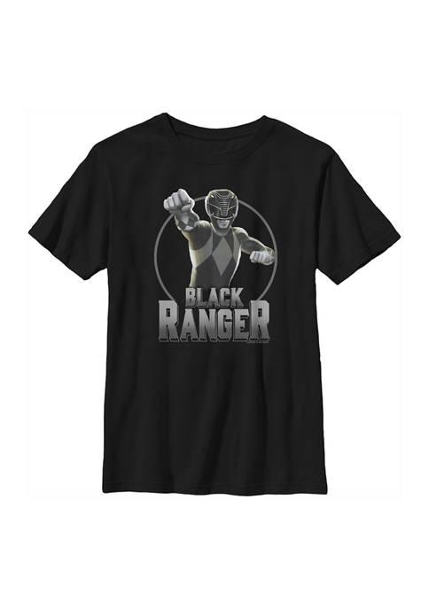 Power Rangers Boys 4-7 Black Graphic T-Shirt