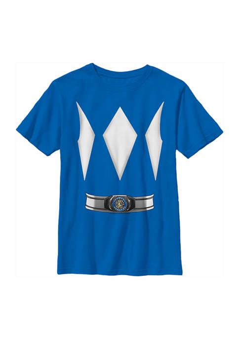 Power Rangers Boys 4-7 Blue Ranger Costume Tee