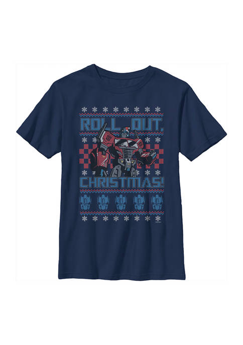 Transformers™ Boys 4-7 Transformers Optimus Sweater Graphic Top