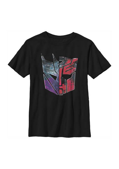Transformers™ Boys 4-7 AUTOBOT DECEPTICON SPLIT LOGO Graphic