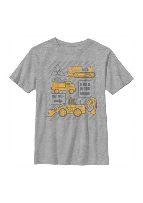 Boys 4-7  Road Work Graphic T-Shirt