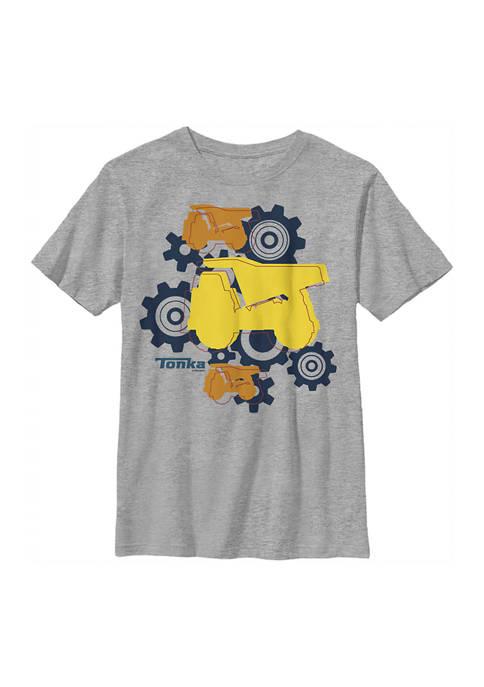 Boys 4-7  Truck Gears Graphic T-Shirt