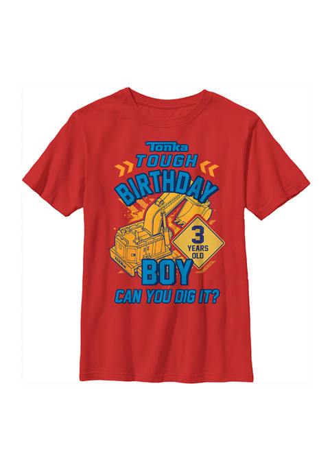 Tonka Boys 4-7 Birthday Boy 3 Graphic T-Shirt